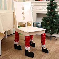 Christmas Table Leg Covers Chair Legs Santa Boots Dining Room Decorations Xmas Decor Pack