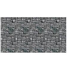 Cheap Scene Setters Halloween by Bulk Halloween Scene Setters Party Supplies Stone Wall Backdrop 6cs