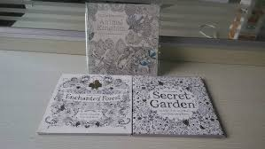 3 BOOKS LOT English Edition Secret Garden Coloring Book Animal Kingdom Enchanted Forest 96 PAGES In Books From Office
