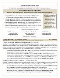 EVP Marketing Executive Resume Sample