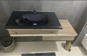 design glas waschtisch waschbecken badezimmer unterschrank