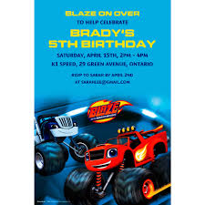 100 Monster Truck Birthday Party Supplies Custom Blaze And The Machines Invitation Blaze And The