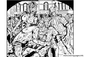 Adult Zombies Coloring Pages Print Download