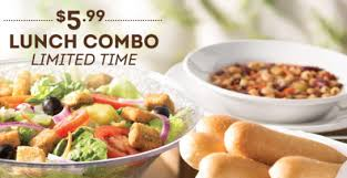 Olive Garden $5 99 for Unlimited Soup Salad & Breadsticks