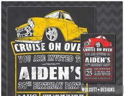 100 Truck Birthday Invitations 1957 Chevy Invitation 57 Chevy Hot Rod