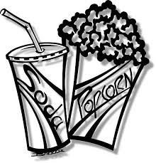 Popcorn Pieces Clipart Black and White