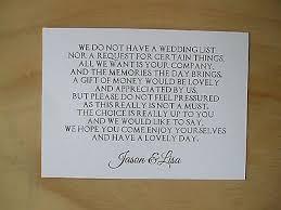 Wedding Money Request Cards