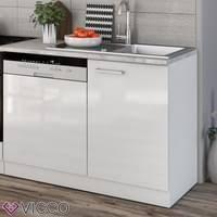 vicco küche 270 cm küchenzeile küchenblock einbauküche komplettküche weiß hochglanz