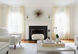windows flanking fireplace design ideas