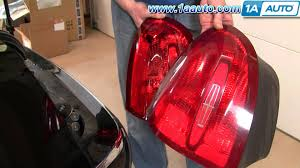 how to install repair replace broken taillight lincoln town car 98