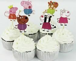 tortentopper cupcake topper peppa wutz 2d kuchentopper