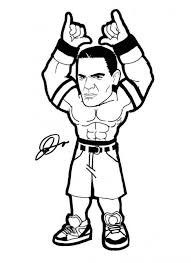 John Cena Coloring Pages Printable