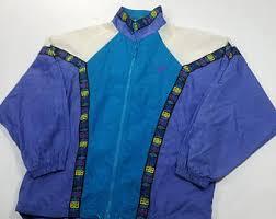 Vtg 90s Reebok Windbreaker Jacket Print