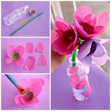 Tissue Paper Egg Carton Tulip Craft For Kids
