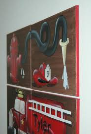 Austinartworks.com - FIRE TRUCK ARTFOR KID'S ROOMS