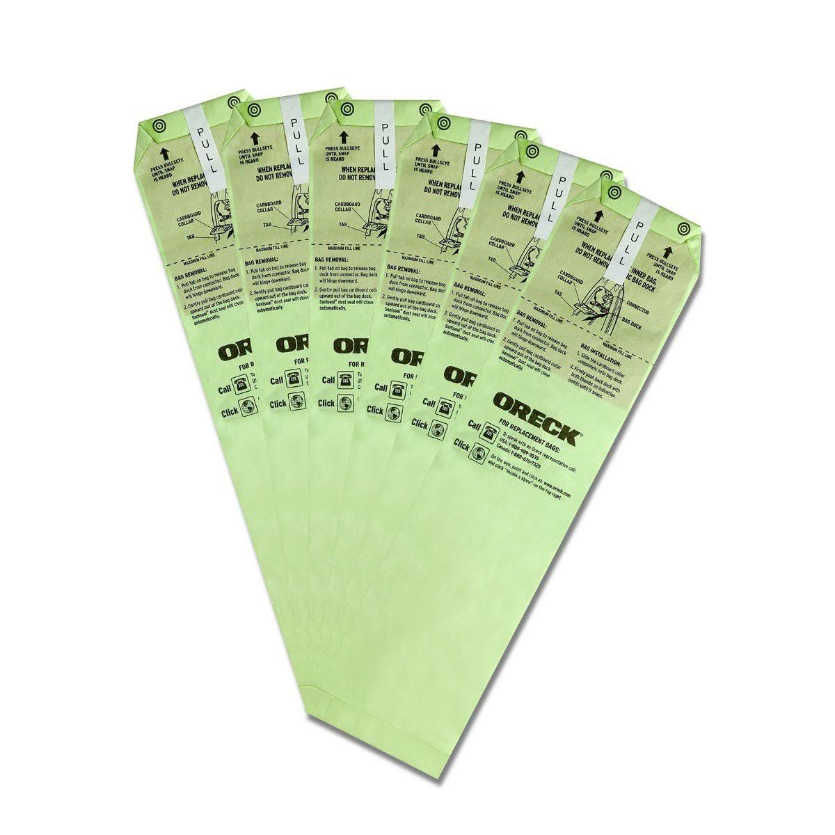 Oreck Advanced Filtration Vacuum Bags for Magnesium Upright - 6 Pack