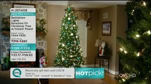 Qvc Christmas Tree Storage Bag by Bethlehem Lights 7 5 U0027 Berkshire Fir Christmas Tree W Instant Power