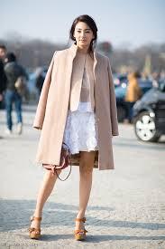 Pink Coat and Flower Applique Skirt Outside Chloe