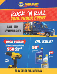 NAPA AUTO PARTS TOOL SALE EVENT - September 30th 2017 | Dynaparts ...