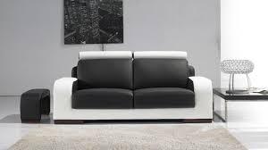 canap noir et blanc photos canapé noir et blanc cuir