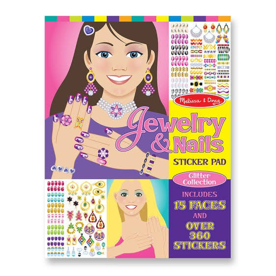Melissa & Doug Jewellery & Nails Sticker Pad - 4 Sticker Sheets