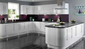 white cabinets with contrast cozinhas pinterest gloss