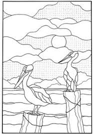 Nature Designs Stained Glass Pattern Coloring Sheets