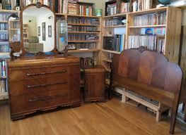 White King Headboard Ebay by 350 Start 3 Piece Art Deco Bedroom Set Dresser W Mirror Nightstand
