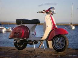 Vespa 125 With 11 LX Wheels Tasso Vintage Body Kit