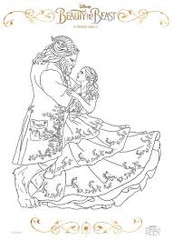 Beauty And The Beast 2017 Coloring Pages Belle Dancing 2