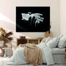 wandmotiv24 leinwandbild kunst gemälde querformat hände schwarz weiß m0107