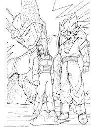 Dragonball Dragon Ball Z Color Page Cartoon Characters Coloring Pages Plate