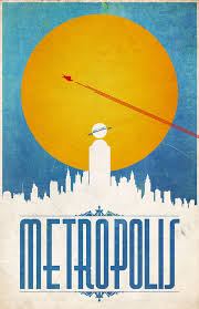 Science Fiction Super Heroes Famous Cities As Minimalist Posters