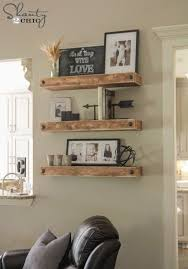 Dining Room Shelves Diy Floating With Clavos