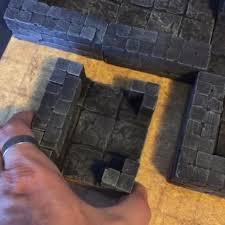 3d Dungeon Tiles Kickstarter by 8 3d Dungeon Tile Molds Same Tile Separated Dungeon Dealer