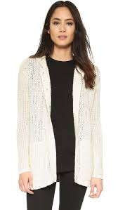 atm oversize hooded sweater coat in white lyst