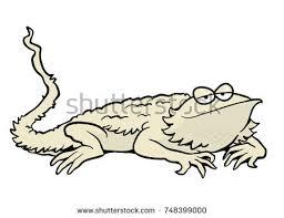 Cartoon Bearded Dragon Illustration