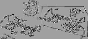 siege deere seat and seat frame siege et chassis de siege sitz und sitzrahmen