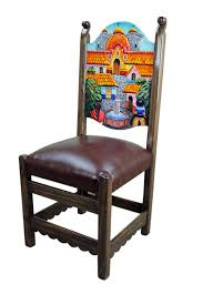 Ranch Style Rustic Mexican Pueblito Painted Chair Handpaintedfurniture