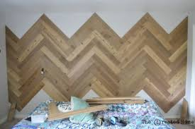 How To Diy A Herringbone Accent Wall Tutorial