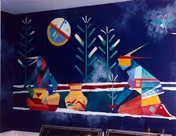American Indian Mural Fantasy