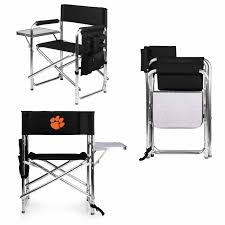 Clemson Tigers Black Sports Folding Chair Ncaa Zero Gravity Clemson Orange Chair Black Tigers Recling Camp Folding Chairs College Covers Textilene Pine Rocking Replacement Sling With Pillow Pnic Time University Sports With Digital Logo Academy Lcc12331 Round Table 30in Oversized Gaming Brands Elite