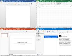 Clockwise From Top Left Word Excel Outlook And PowerPoint