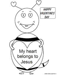 Jesus Valentine Coloring Pages