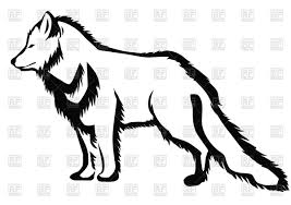 Arctic fox silhouette Royalty Free Vector Clip Art Image