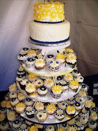 Daisy Wedding Cake Cupcake Tower