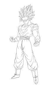 Dessin Sangoku Super Saiyan 4 Coloriage Dragon Ball Z Sangoku