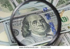 Euro Paper Money Closeup Banknotes Fifty Stock