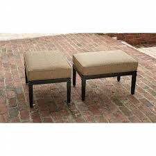 Ty Pennington Patio Furniture Parkside by La Z Boy Outdoor Charlotte 2 Pack Ottomans Shop Your Way Online