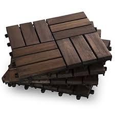 garden winds dt02 db twelve slat deck tiles mahogany 10 count